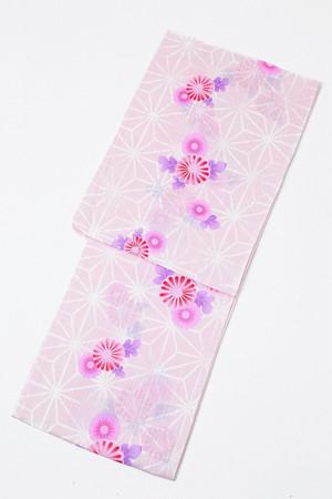 セール浴衣SALEITEM レディース浴衣 仕立て上がり 旧作 単品 ピンク 麻の葉