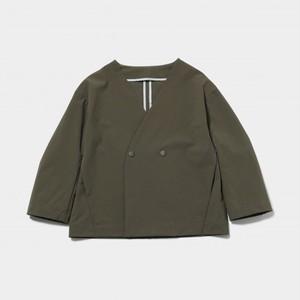 MOUNTEN.  nylon strech jacket MT191002-a カーキ 110 125 140 MOUN TEN.
