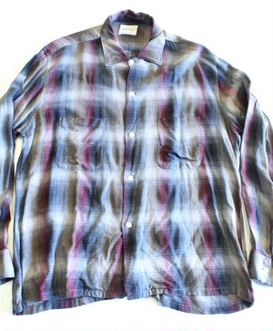Vintage Pennys Town Craft ombré check shirt