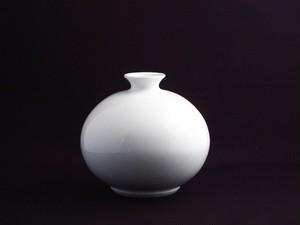 【井上萬二作】白磁丸形壷-C