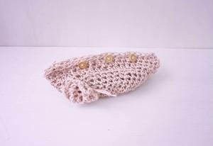 かぎ針編みの小物ポーチ