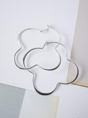 ♧ Clover Hoop Earrings / SIlver - 016
