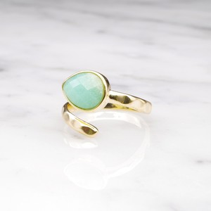 SINGLE STONE OPEN RING GOLD 021