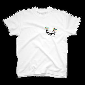 Tシャツ 風船とオスプレイ【キッズ・レディース・メンズ】