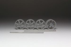 8.5mm Volk Racing TE37 タイプ 3Dプリント ホイール 1/64 未塗装