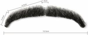 Neitsi ネイティス 付け髭 No.8 人毛100% 髪製髭 ウィッグ 職人手作り品です。