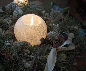 Snow ball candle(M)