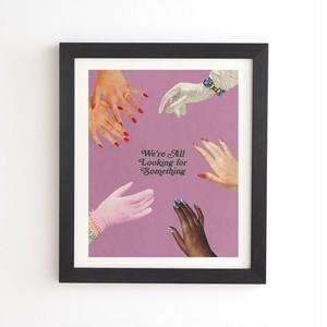 フレーム入りアートプリント  LOOKING FOR SOMETHING BY JULIA WALCK 【受注生産品: 8月下旬入荷分 オーダー受付中】