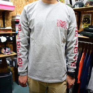 #HHC[髭髭倶楽部] / HIGE HIGE DRAGON Long-tee [GRAY]