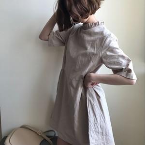【ワンピース】ファッション無地レディースプラスサイズポリエステルスカジュアルワンピース21989971