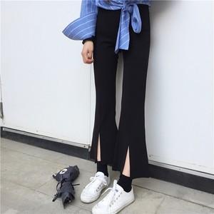 【ボトムス】ファッション無地ハイウエストスリット合わせやすいカジュアルパンツ43228539