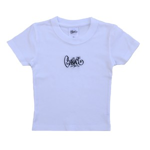 CHANCEGF - TAG LOGO S/S TEE KIDS WHITE