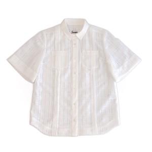 GUAYABERA SHIRT LACE WHITE