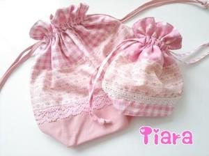 お弁当袋♡ピンク花柄