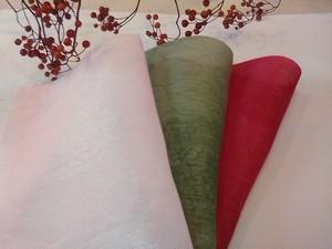 模様入り絹3色セット