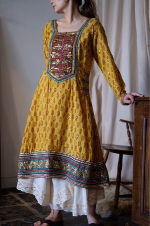Indian cotton spangle dress