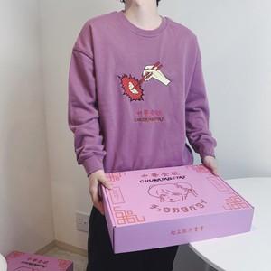 【unisex】meat bum sweat 【pink】