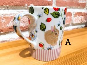RabbitMore 「イチゴ柄マグカップ」