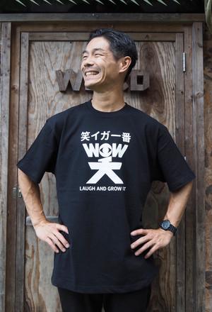 WOW笑Tシャツ 黒(送料込み)