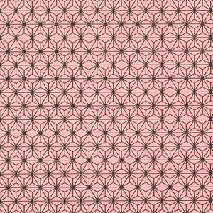 友禅紙 麻の葉 ピンク