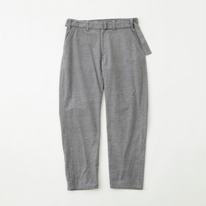 STRETCHED SUEDE TAPERED PANTS - GRAY