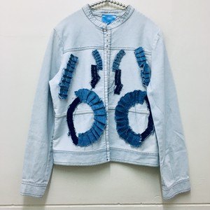 gather design denim jacket