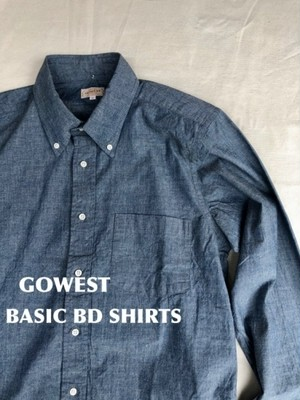 GOWEST BASIC BD SHIRTS/GOWEST STANDARD/ INDIGO