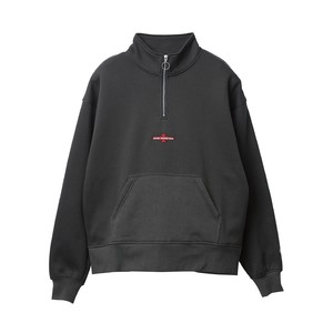 EVISEN × INDEPENDENT  STAND COLLAR SWEAT Charcoal L