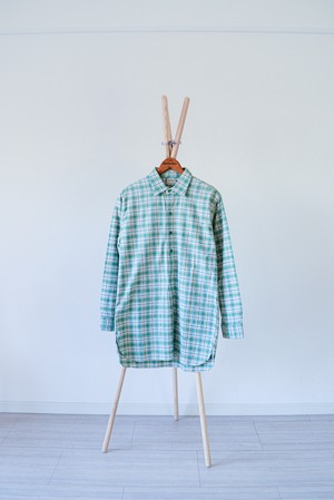 "【1960s】""Germany"" Euro Vintage Grandpa Shirts / v324"