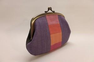 親子がま口財布・紫色/黒色