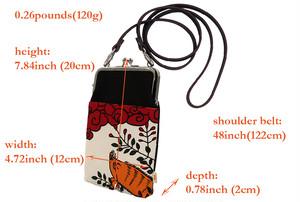 帆布×インクジェットプリント・ショルダーポーチ・萩と猪・日本製