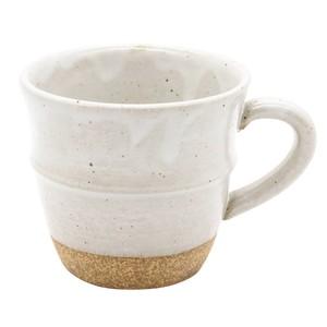 萬古焼 藍窯 ステップマグカップ 220ml 「エスタ Esta」 赤土ホワイト AGM-200104