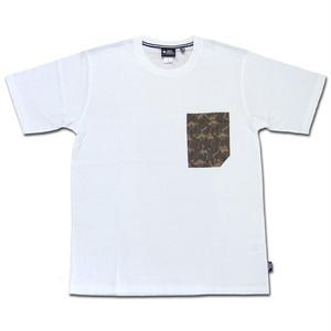 gym master ハッピーペイントポケットTee ホワイト×ラクダ DEOCELL ジムマスター Tシャツ デオセル カットソー 半袖 G433615