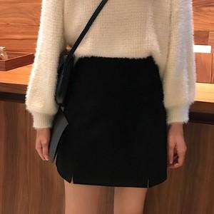 【即納商品】ハイウエスト ミニスカート スカート ブラック 48793