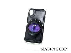 cat eye iPhone X.XS case / blue × purple