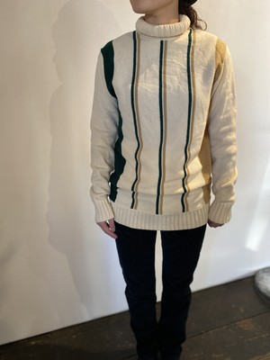 ヨーロッパ物ビンテージ【turtle neck】ストライプセーター