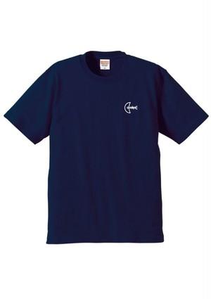 ロゴ刺繍Tシャツ【ネイビー】
