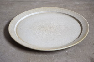 mushimegane books. rim plate 35 /  white green grey  L