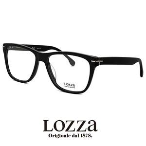 lozza メンズ メガネ vl4049m 0700 眼鏡 ロッツァ ウェリントン 黒ぶち 黒縁 イタリア製