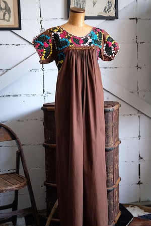 Brown Mexican dress