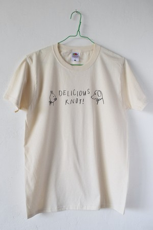 〈DELICIOUS KNOT!〉 T-shirt (natural)