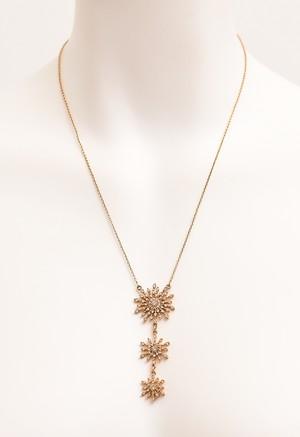 結晶モチーフ ゴールド ネックレス