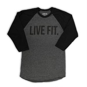 LIVE FIT LiveFit Raglan (Baseball) Tee - Char/Black VF706