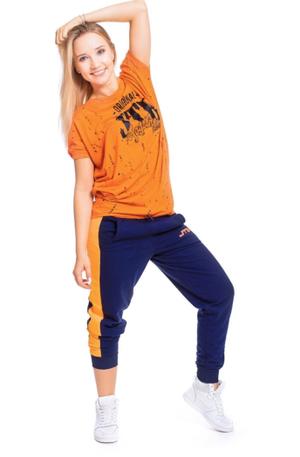 【JTB】B-LINE スタイルパンツ【ダークグレー×オレンジ】【再入荷】イタリアンウェア【送料無料】《M&W》