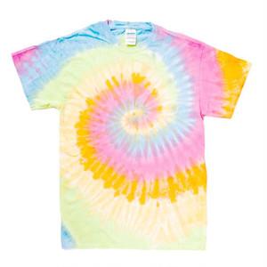 タイダイ オーバーサイズ クルーネック Tシャツ (螺旋) ライト