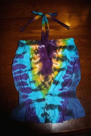 タイダイ Tie Dye Women's Smocked Tube Top