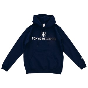 TOKYO RECORDS LOGO HOODIE(NAVY × WHT)