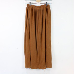 ?SLOBE IENA / スローブイエナ | カットプリーツマキシスカート | F | キャメル | レディース