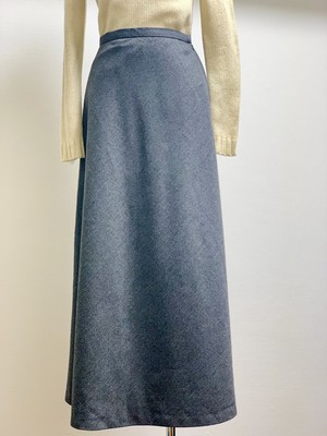 Vintage Wool Flared Skirt Made Of Italian Fablic Made In USA