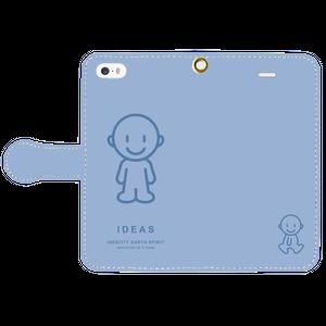 IDEAS/iPhone5/5s/SE手帳型ケース 803-ブルー